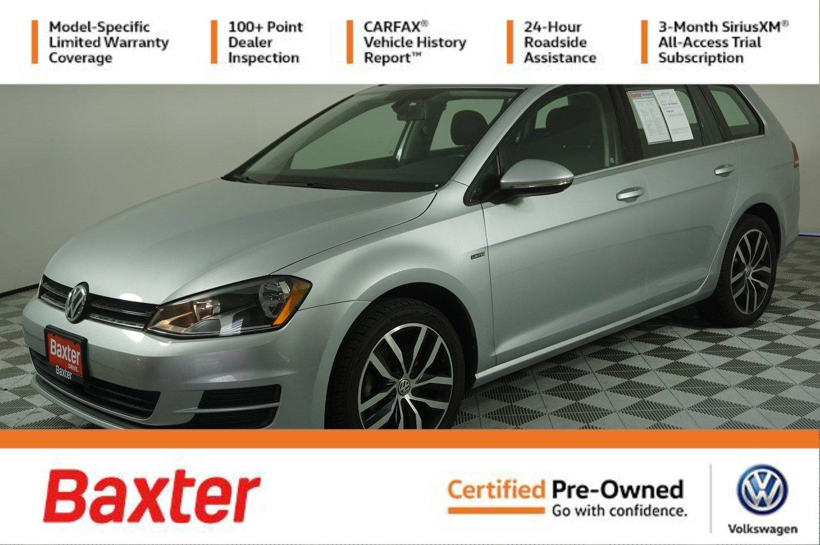 Certified Pre-Owned 2016 Volkswagen Golf SportWagen TSI Limited Edition - PANOROOF,HTD
