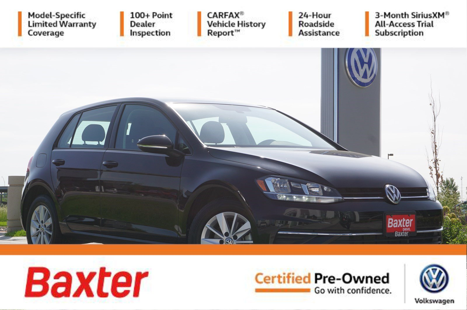 Certified Pre-Owned 2018 Volkswagen Golf 1.8T S Auto